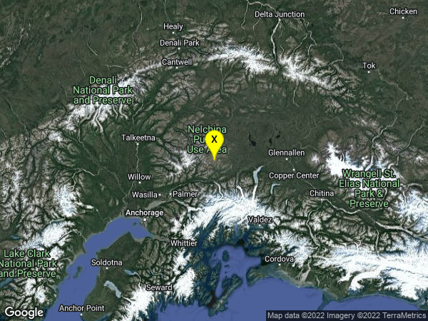 earthquake 65km ENE of Sutton-Alpine, Alaska